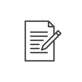 Contact form line icon. Write, edit outline vector sign Royalty Free Stock Photography