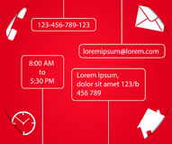 Contact form template for website. Contact form template for website in red and white color. Smart design with shadows royalty free illustration