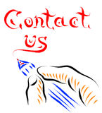 Contact hand drawn Stock Images