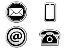 Contact icon buttons set Royalty Free Stock Photo