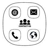 Contact icon Stock Image
