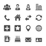 Contact icon set, vector eps10 Royalty Free Stock Images