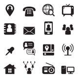 Contact icon set Stock Photos