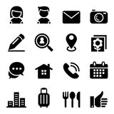 Contact icon set Royalty Free Stock Image