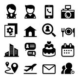 Contact icon set Royalty Free Stock Photography