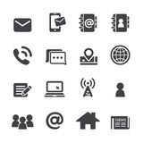 Contact icon set Stock Photography