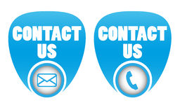 Contact icons Stock Photo