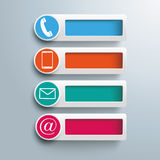Contact Icons Banners Holes Stock Photos