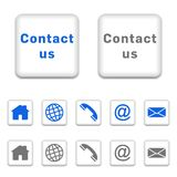 Contact icons Royalty Free Stock Photos