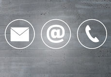 Contact icons email message phone concept royalty free stock photography