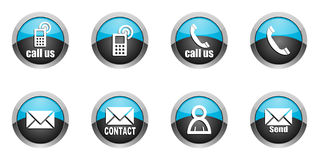 Contact icons set Royalty Free Stock Photos