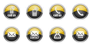 Contact icons set Stock Image