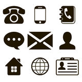Contact Icons Set Stock Photo