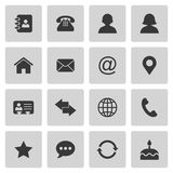 Contact icons set Stock Photos