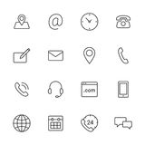 Contact Icons Stock Images