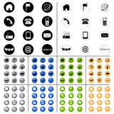 Contact icons v1-v10 Stock Photography