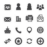 Contact icons Stock Photos