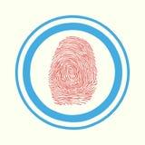 Contact, identification, symbole d'Access de balayage d'empreinte digitale Photographie stock libre de droits