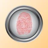 Contact, identification, symbole d'Access de balayage d'empreinte digitale Photos libres de droits