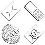 Contact info web icons Royalty Free Stock Photos
