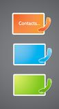 Contact Information bar. Stock Images
