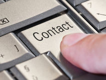 Contact key Royalty Free Stock Images