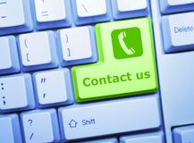 Contact key Stock Photography
