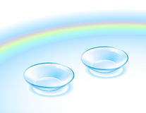 Contact lens stock illustration