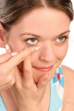Contact lens Royalty Free Stock Photo