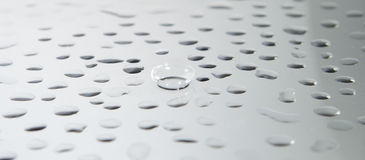 Contact Lens. With water drops Stock Images