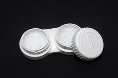 Contact Lens case Stock Photo