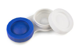 Contact lens in case Stock Photo