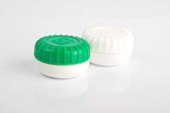 Contact lens case. Picture of a simple contact lens case Royalty Free Stock Photo