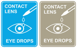 Contact lens - eye drops Stock Photo