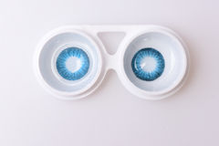 Contact lens for eyes in boxes Stock Images