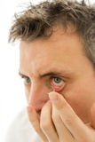 Contact lens stock photography