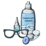 Optics and visual acuity vector illustration