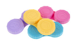 Contact lens storage cases Royalty Free Stock Photos