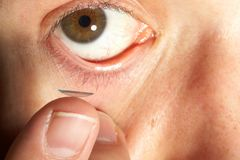 Contact Lense Royalty Free Stock Photo