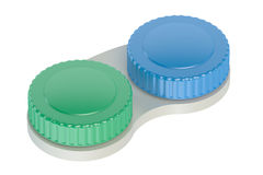Contact lenses case closeup Royalty Free Stock Image