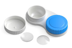 Contact Lenses  with container Royalty Free Stock Photos