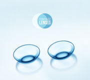 Contact Lenses. Contact lenses, eps 10 Stock Image