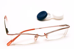 Contact lenses or glasses  Stock Image