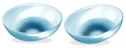 Contact lenses vector illustration