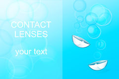 Contact lenses, ophthalmology Royalty Free Stock Photography