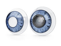 Contact lenses with zoom lens royalty free illustration