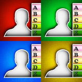 Contact list icon Royalty Free Stock Image