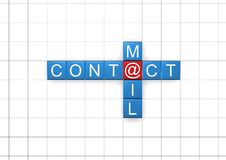 Contact and mail Royalty Free Stock Photos