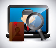 Contact manager app Stock Photography