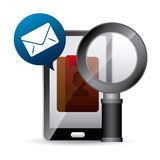 Contact manager app Stock Images